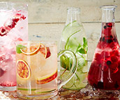 Healthy fruit-infused waters