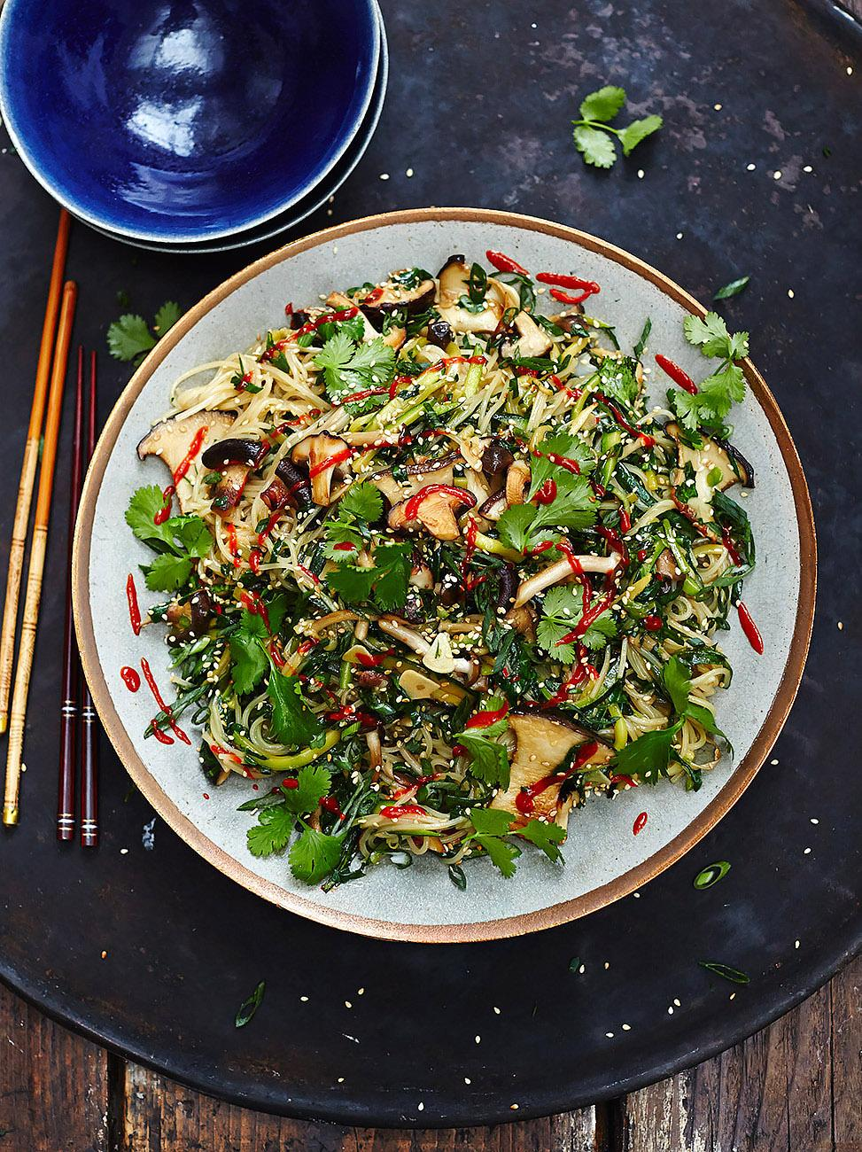 Healthy ways to use greens jamie oliver for Garden fresh chinese vegan cuisine